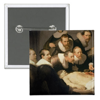 The Anatomy Lesson of Dr. Nicolaes Tulp, 1632 Button