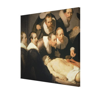 The Anatomy Lesson of Dr. Nicolaes Tulp, 1632 Stretched Canvas Prints