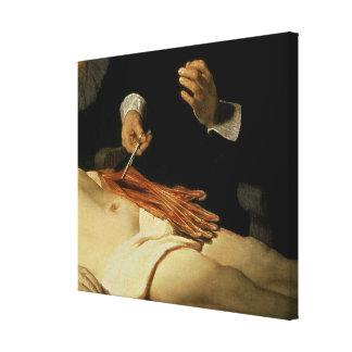 The Anatomy Lesson of Dr. Nicolaes Tulp, 1632 Canvas Prints