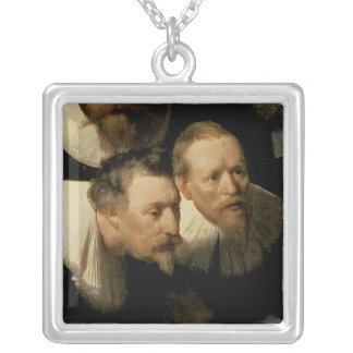 The Anatomy Lesson of Dr. Nicolaes Tulp, 1632 Silver Plated Necklace