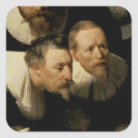 The Anatomy Lesson of Dr. Nicolaes Tulp, 1632 Square Stickers