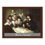 The Anatomy Lesson Of Dr. Nicolaes Tulp. 4.25x5.5 Paper Invitation Card