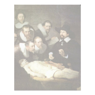 The Anatomy Lesson Of Dr. Nicolaes Tulp. Letterhead Template