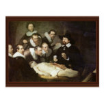 The Anatomy Lesson Of Dr. Nicolaes Tulp. Post Card