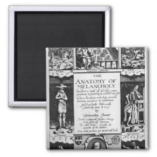 The Anatomy of Melancholy 2 Inch Square Magnet