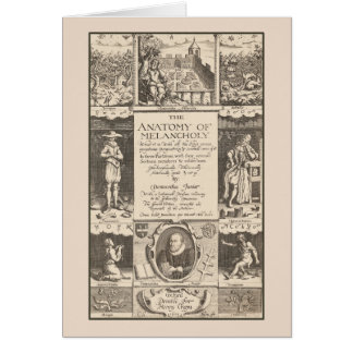 The Anatomy of Melancholy Antique Engraving Greeting Card