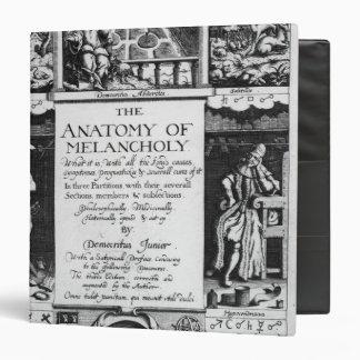 The Anatomy of Melancholy Binder