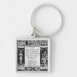The Anatomy of Melancholy Silver-Colored Square Keychain