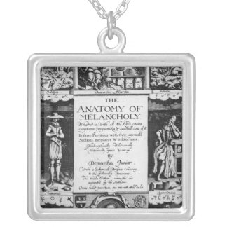 The Anatomy of Melancholy Square Pendant Necklace