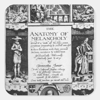 The Anatomy of Melancholy Square Sticker