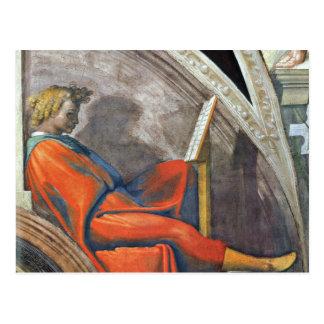 The ancestors of Christ 2 by Michelangelo Postcard