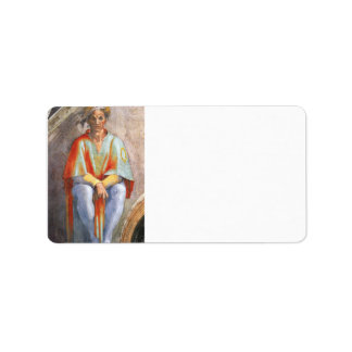The ancestors of Christ - Aminadab by Michelangelo Custom Address Label
