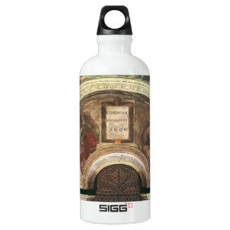 The ancestors of Christ by Michelangelo Aluminum Water Bottle