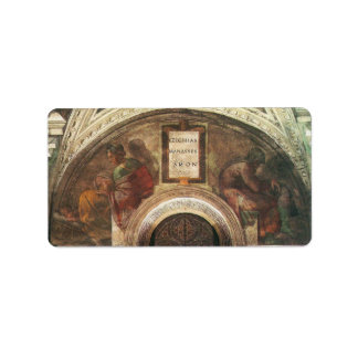 The ancestors of Christ by Michelangelo Custom Address Labels