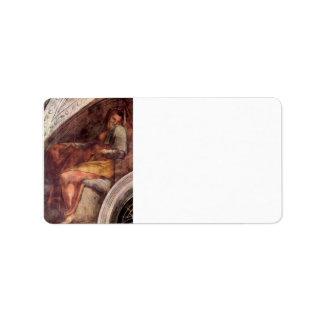 The ancestors of Christ by Michelangelo Address Label