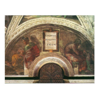 The ancestors of Christ by Michelangelo Postcard