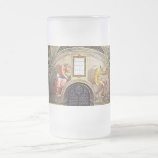 The ancestors of Christ - Salmon, Booz, Obeth Frosted Glass Beer Mug