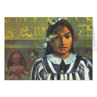 The Ancestors of Tehamana - Paul Gauguin Card