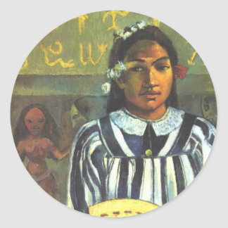 The Ancestors of Tehamana - Paul Gauguin Classic Round Sticker