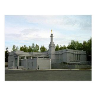 The Anchorage Alaska LDS Temple Postcard
