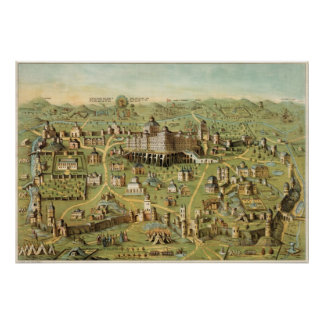 The ancient city of Jerusalem Poster