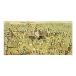 The Ancient City of Jerusalem Solomon s Temple Custom Photo Card