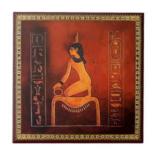 The Ancient Egyptian Goddess Isis Ceramic Tile