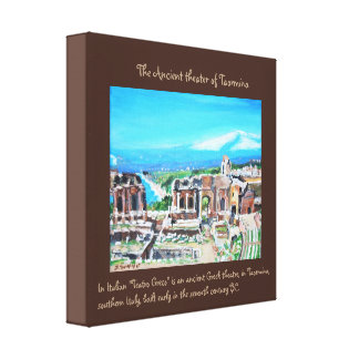 The Ancient Greek  Theater- Premium Wrapped Canvas
