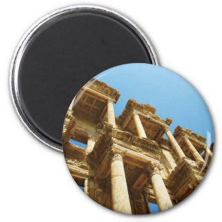 The Ancient Library of Celsus in Ephesus - photo 2 Inch Round Magnet