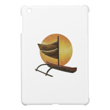 Hawaiian Themed The Ancient Outrigger Case For The iPad Mini