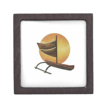 Hawaiian Themed The Ancient Outrigger Gift Box