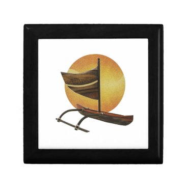 Hawaiian Themed The Ancient Outrigger Jewelry Box