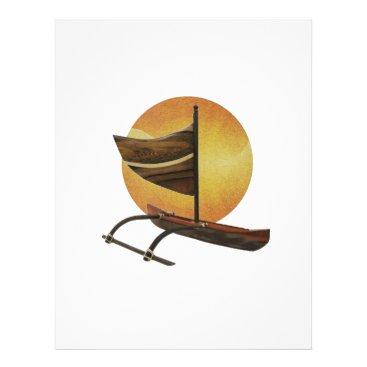 Hawaiian Themed The Ancient Outrigger Letterhead