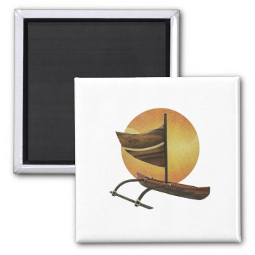 Hawaiian Themed The Ancient Outrigger Magnet