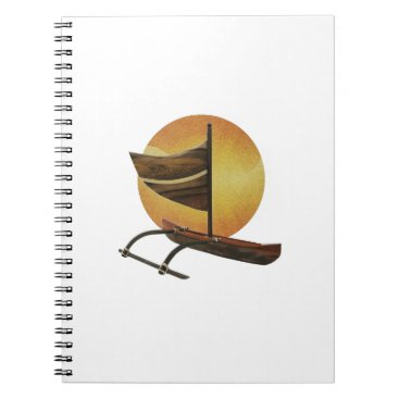 Hawaiian Themed The Ancient Outrigger Notebook