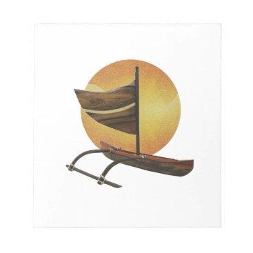 Hawaiian Themed The Ancient Outrigger Notepad