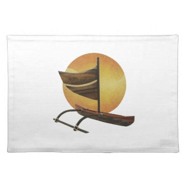 Hawaiian Themed The Ancient Outrigger Placemat