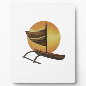 Hawaiian Themed The Ancient Outrigger Plaque