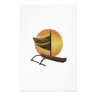 Hawaiian Themed The Ancient Outrigger Stationery