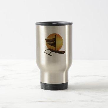 Hawaiian Themed The Ancient Outrigger Travel Mug