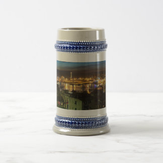 The ancient port in Genova, Italy Beer Stein
