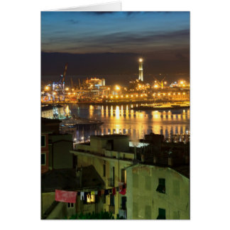 The ancient port in Genova, Italy Card
