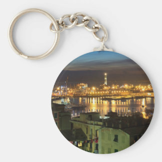The ancient port in Genova, Italy Keychain