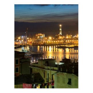 The ancient port in Genova, Italy Postcard