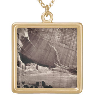 The Ancient Ruins of the Canyon de Chelle, 1873 (a Gold Plated Necklace