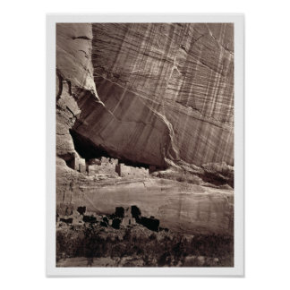 The Ancient Ruins of the Canyon de Chelle, 1873 (a Poster