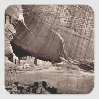 The Ancient Ruins of the Canyon de Chelle, 1873 (a Square Sticker