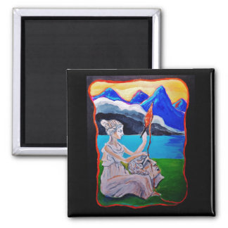 The Ancient thread of Homer's iliad 2 Inch Square Magnet
