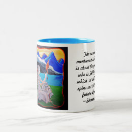 The Ancient thread of Homer's iliad Two-Tone Coffee Mug