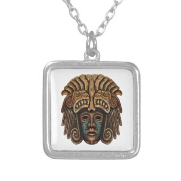 THE ANCIENT WISDOM SILVER PLATED NECKLACE